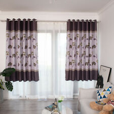 Single Lotus Leaf Printed Blackout Curtains For Living Room Bedroom Window DP