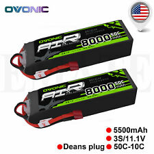 2x 8000mAh 3S 11.1V 50C Lipo Battery Pack Deans Plug For RC Car Buggy Heli Quad