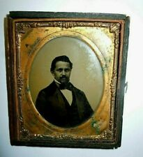 "Vintage 1854 Ambrotype Glass Photograph Photo African American Man 3"" x 3.5"""
