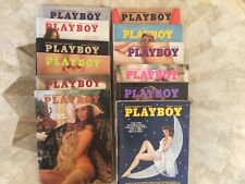 Playboy Magazine Full Year Set 1973 All 12 Issues. Complete Collection. Nude Lot