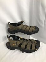 Keen Brown Mens Leather Sandals Size 14 Outdoor Hiking Waterproof EUC
