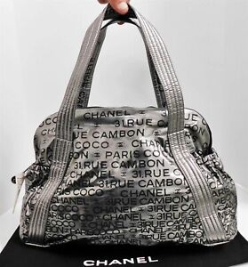 New Chanel 31 Rue Cambon Silver Black XL Hobo Bag