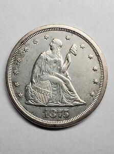 1875-S Twenty Cent 20c Piece Great Strike! Possible UNC