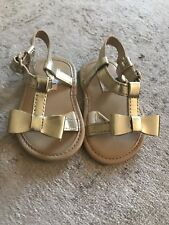 janie and jack Gold Sandals Baby Girl 6 Months Worn Once