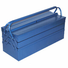 "Large 21"" 53.5cm Metal Cantilever Toolbox Tool Box Storage 5 Tray Chest #1808"