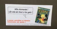 Carte publicitaire pour le lancement Les bijoux de la Castafiore en Galo. Tintin