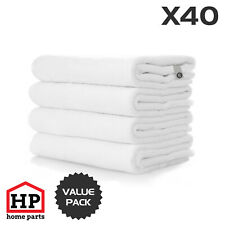 40 X Professional Washable Microfibre Cloths Extra-Large Super Thickness White