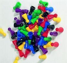 60  Halmakegel aus Kunststoff  25 x 12 mm 6 Farben gemischt Pöppel