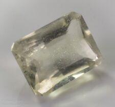 Libyan Desert Glass LDG Facet Emerald Cut Gem Meteorite Impactite 4.5ct 12x9mm