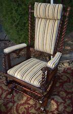 1880s George Hunzinger Barley Twist Walnut Platform Rocker Rocking Chair