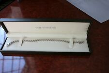 "A BEAUTIFUL SILVER ""GOLDSMITHS"" TENNIS BRACELET PRISTINE CONDITION HALLMARKED"