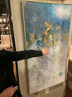 "XXL 53"" HAND PAINTED FRAMED CANVAS ABSTRACT PAINTING MODERN DESIGNER WALL ART"
