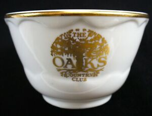 THE OAKS COUNTRY CLUB~Vintage~SHENANGO CHINA~Rim Roll~SOUP CUP~Restaurant Ware