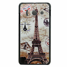 For Huawei Ascend Y300 Eiffel Tower Plastic Phone Hard Cover Case Skin