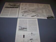 VINTAGE..EMBRAER EMB-321 TUCANO..HISTORY/CUTAWAY/SPECS/3-VIEWS..RARE! (241F)