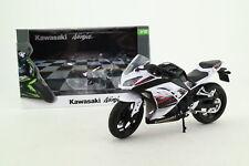 Joy City 1:12 Scale; Kawasaki Ninja Motorcycle; Black & White; Excellent Boxed