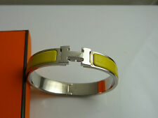 AUTH Hermes Clic H  Enamel GM  Bracelet