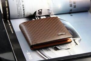 Men's Genuine Leather Wallet , Brown Wallet ,