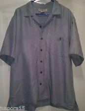 Hook & Tackle Mens Blue Button Down Shirt Size L