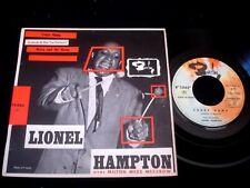 """LIONEL HAMPTON/CRAZY HAMP/BARCLAY/JAZZ/ FRENCH SP 7"""""""
