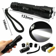 1000LM Cree T6 LED Tactical Flashlight Torch+18650 Battery+Charger White Light