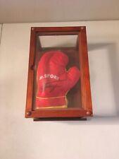 Jr. Sport JOE FRAZIER Signed Mini Boxing Glove w/ Display Case