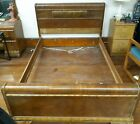 Antique FULL Size Federal Style Bed Frame Headboard Footboard   Rails OLDIE