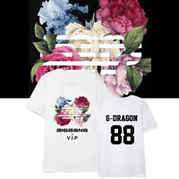 KPOP BIGBANG T-Shirt Flower Road Ablum Tshirt G-DRAGON Name Letter Tee Casual