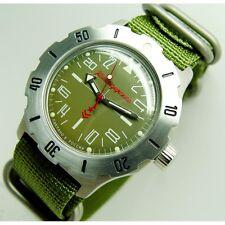 NEW AUTOMATIC RUSSIAN VOSTOK 350645 MILITARY WATCH!!! KOMANDIRSKIE K-35 24 HOUR