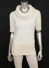 AMERICAN EAGLE Ivory Short Sleeve Cowl Neck Wool/Rabbit Hair Blend Sweater sz S