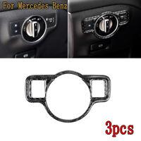 Carbon Fiber Interior Headlight Switch Decorative Trim For Mercedes Benz  A/B/G