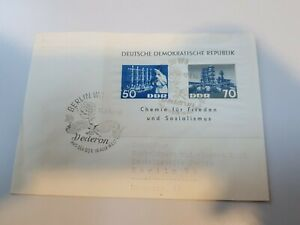 DDR 1963 Chemie Industrie FDC Block 18 mit SST.Katalog 150