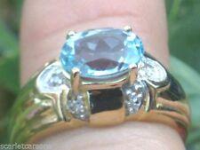 Topaz Christmas Natural Fine Gemstone Rings