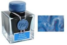J Herbin 1798 Fountain Pen Ink Bottle, Kyanite Du Nepal, Blue w/ Silver Sparkle