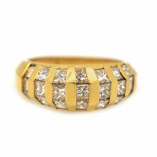 14k Yellow Gold 2.10Ct Diamond Ring Size 7 (Sizable)