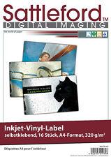 16Blatt Sattleford  Vinyl-Klebefolien Folien wetterfest Aufkleber A4