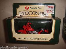 MATCHBOX COLLECTORS MODEL AUST. POST HERITAGE TRANSPORTATION PMG MOTORBIKE #8