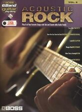 Boss eBand Guitar Play-Along Acoustic Rock Learn TAB Music Book USB Drive
