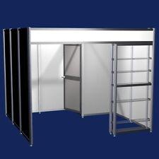 Messestand mit separater Abstellraum und Regal, 9 m2 Messebausystem  Modul 6