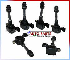 SET OF 6 IGNITION COILS V6 3.5L fit ALTIMA 02-06 MURANO 03-08 QUEST 04-09 VQ35DE