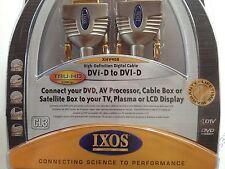 Dvi-D To Dvi-D Cable Gold OFC Gamma HD Digital 1080 Satellite Plasma TV AV Video