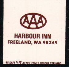 FREELAND WA Harbour Inn Vtg Motel Match Book Cover Whidbey Island Advertising