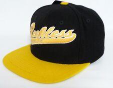 Young & Reckless Black Script Wool Blend Flat Bill Snapback Hat Ball Cap New NWT