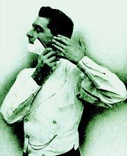 Edwardian Manual shaving with STRAIGHT RAZOR hone Strop