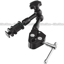 "7"" Inch Articulating Magic Arm + Super Clamp for DSLR Rig Camera to Monitor LED"