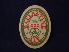 BALLANTINE BEER CARDBOARD COASTER VINTAGE ORIGINAL OVAL