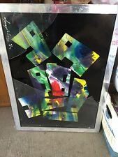 Quadro moderno senza vetro (rotto) misure 75,5x55,5