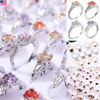 20/50/100Pcs Wholesale Mixed Rings Bulk Finger Band Tail Ring Party Jewelry Lot