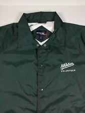 Oakland Athletics Volunteer A's Windbreaker Jacket XL Side Pockets by Sport Tek