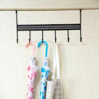 Iron Over Door Hanger Hat Bag Towel Clothes 6 Hooks Organizer Rack Holder